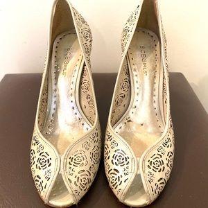 Pearl Floral Designed Heels - BCBG